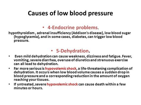 dehydration and blood pressure hypotension hypotension by prof dr kamal mahmoud ahmad