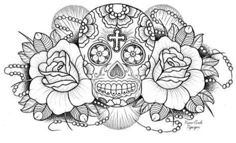 family coloring book 30 hq illustrations quotes paper model books draw mexican skull skull image 219550 on favim