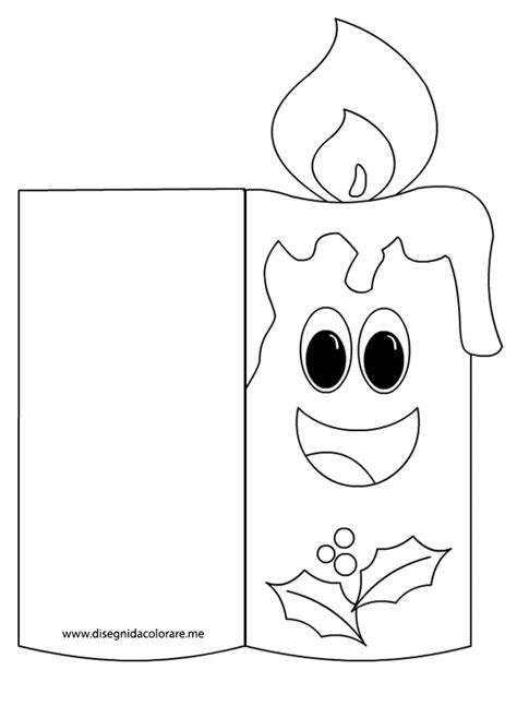 candela di natale da colorare biglietto di natale da colorare candela disegni da