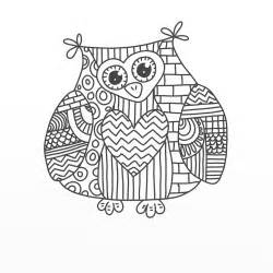 Coloring pagesthe owl doodle from doodle coloring book vol 2