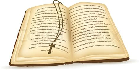 open bible images open bible with cross white background stock