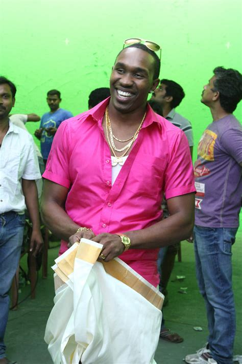 film india bravo west indian cricketer dwayna bravo on the sets of tamil