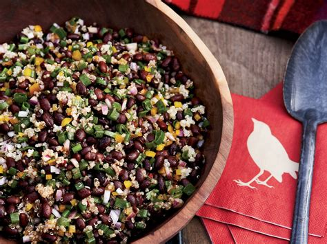 protein quinoa salad black bean and quinoa salad recipe ken oringer food wine