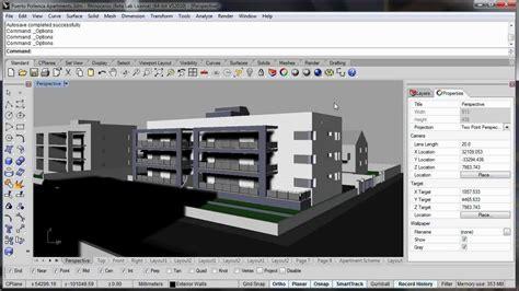 3d Model Your Apartment la visualizaci 243 n de arquitectura en rhino v5 youtube
