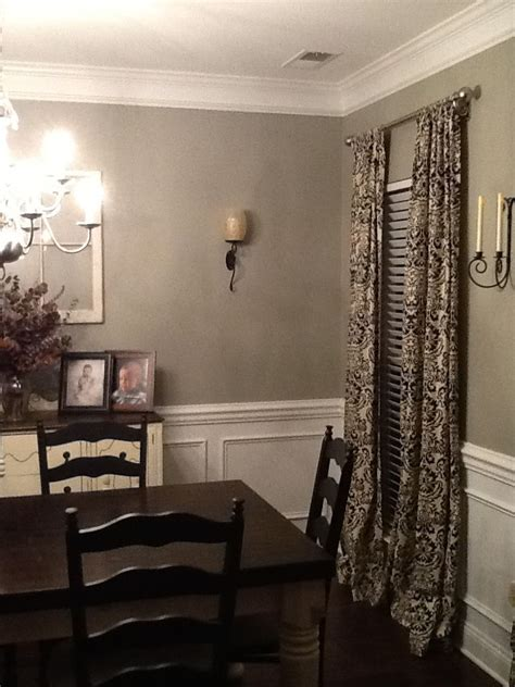 glidden paint quot wood smoke quot dining room my sanctuary