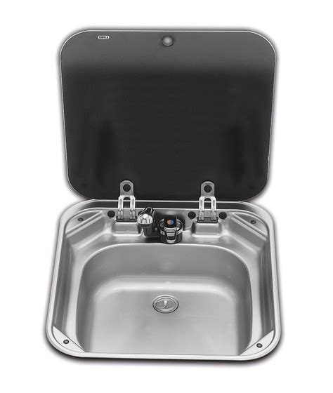 caravan kitchen sinks smev sink with glass lid 8006 caravan and motorhome