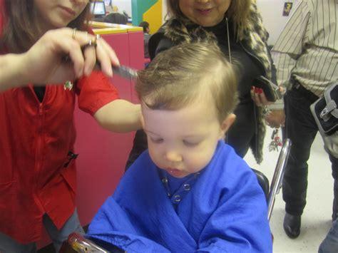 one year old hair cut lag b omer congregation shaare emeth