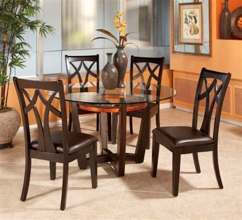 Dining Room Chairs For Glass Table Glass Dining Room Table And 4 Chairs Starrkingschool