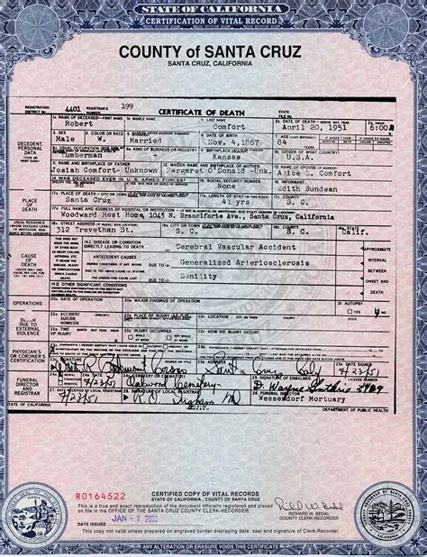 Ventura County Birth Records Birth Certificate California Ventura County Choice Image Certificate Design And Template