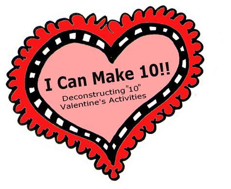 math valentines valentines math freebie decomposing 10 preschool powol