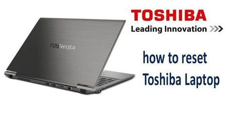 how to reset a toshiba laptop using simple tric
