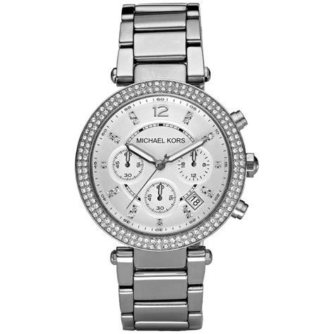 michael kors s white chronograph bracelet