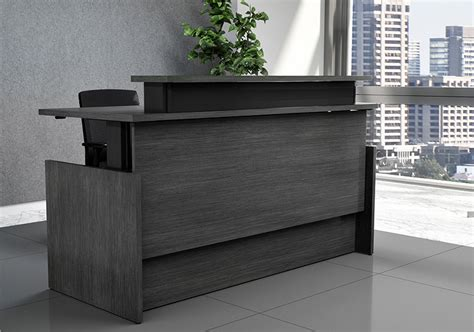 Vertdesk Executive Series Sit To Stand Reception Desk Stand Up Reception Desk