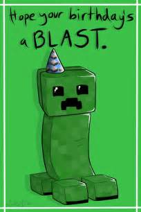 minecraft birthday cards print outs creeper birthday