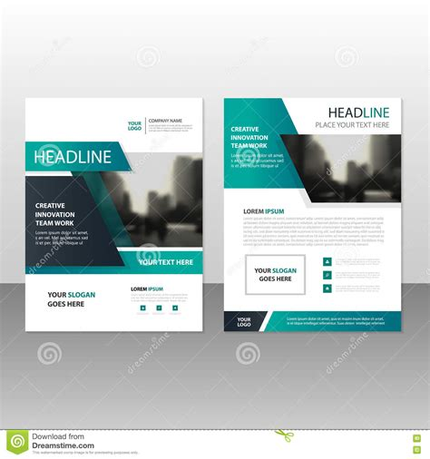 leaflet layout powerpoint green black vector annual report leaflet brochure flyer
