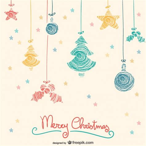 colorful hanging christmas ornaments vector free vector