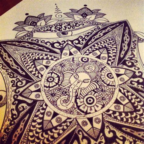 ganesh mandala tattoo ganesh mandala tattoo draw by antoine giordani mandala