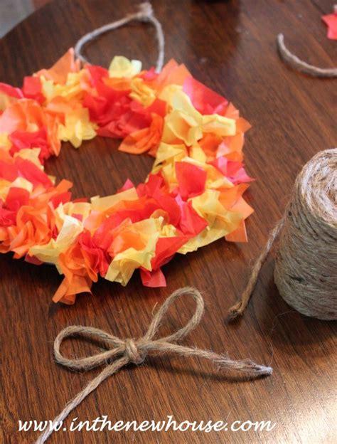 Diy Tissue Paper Crafts - diy tissue paper fall wreath hometalk