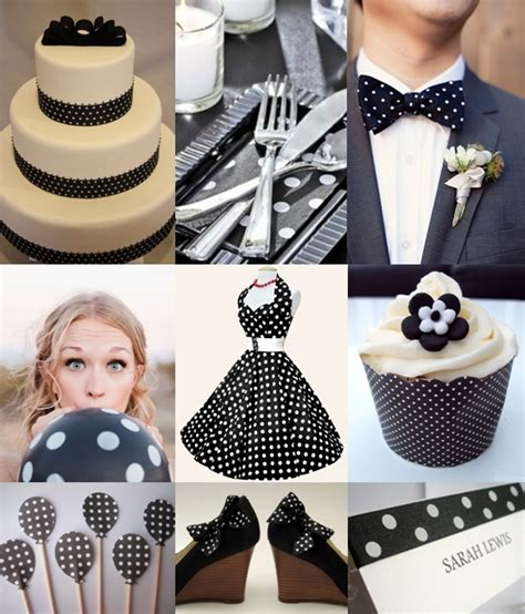 black and white polka dot wedding theme the wedding community