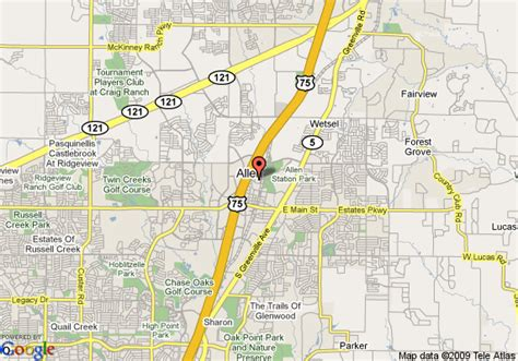 map allen texas map of garden inn dallas allen allen