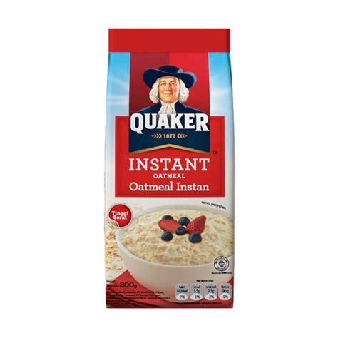 jual quaker instant oatmeal malaysia 1200 gr extrra 150 gr harga kualitas