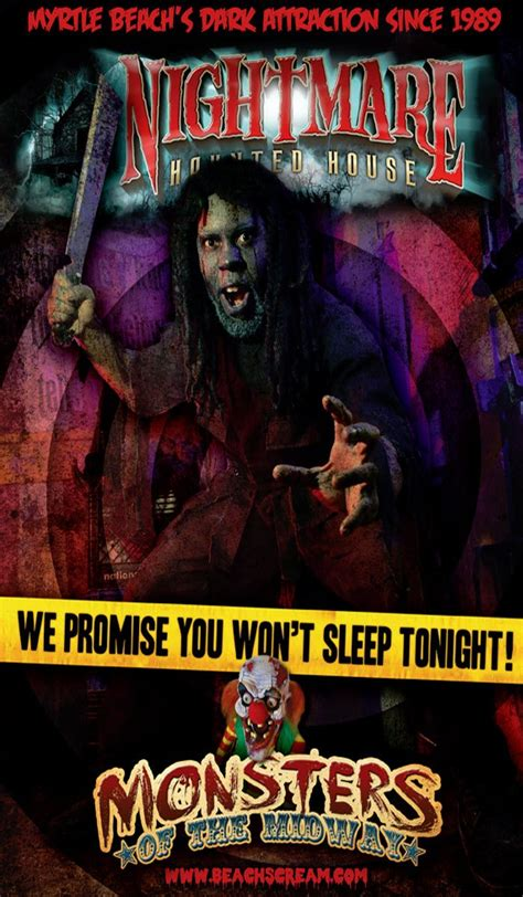 nightmare haunted house nightmare haunted house in downtown myrtle beach is a screaming good time for those
