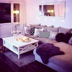 Cheap Living Room Decorating Ideas Apartment Living Purple Living Room