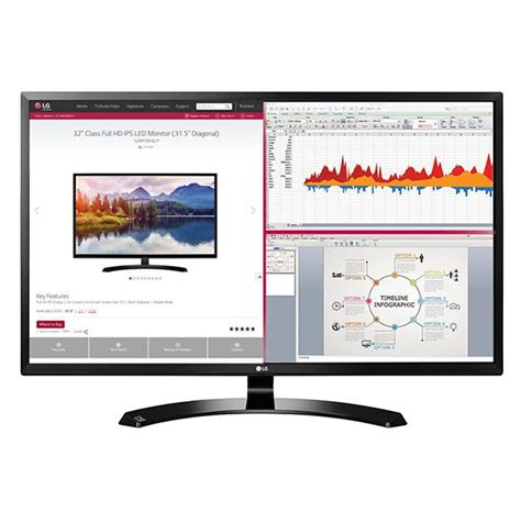 Monitor 32 Inch lg 32ma68hy p 32 inch ips monitor with display