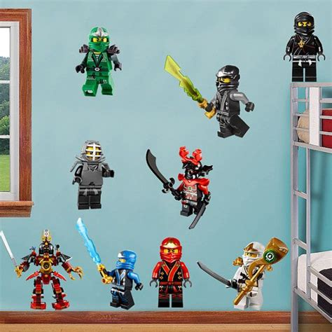 ninjago bedroom ninjago lego 9 characters decal removable wall by