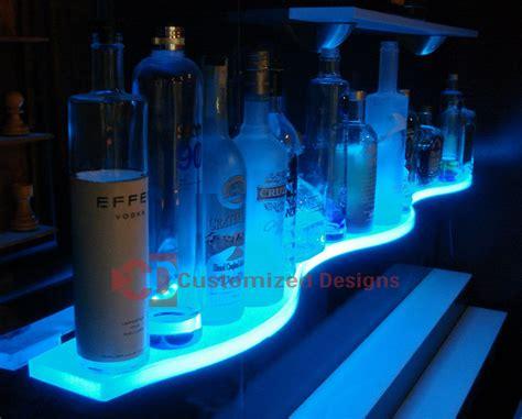 Illuminated Bars by Led Glass Bar Shelves Lighted Floating Shelves Kbis