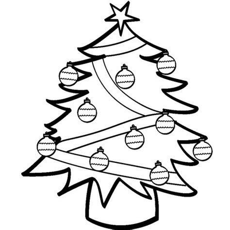 Pretty Christmas Trees Pictures Cliparts Co Tree Decorations Coloring Pages