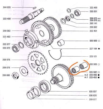 Koper Wheel Pack tomos a35 mainshaft needle bearing removal