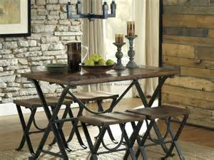 Industrial Dining Room Chairs by Friemore Industrial Rustic 5 Piece Dining Collection