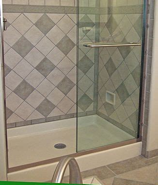 recessed foot rest showers