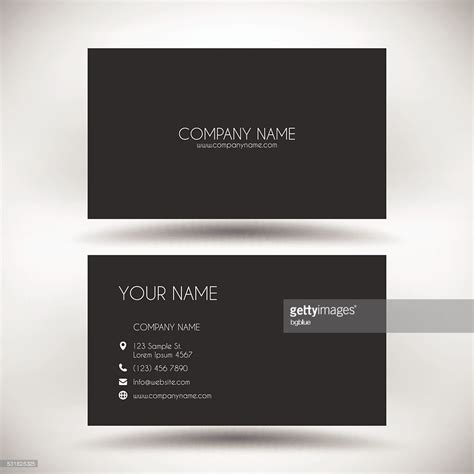 black business card template vector business card template with black background vector