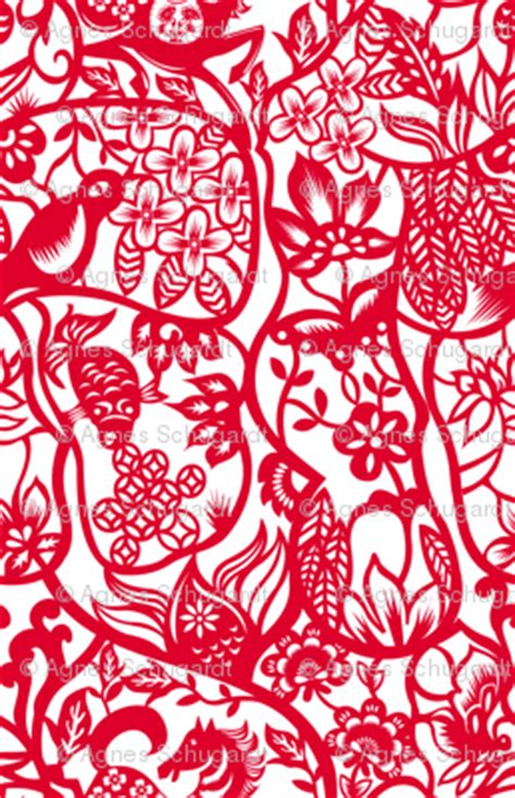 pattern paper substitute chinese paper cut pattern fabric agnesschugardt