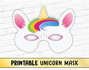 unicorn fairy tale printable mask magical rainbow horse