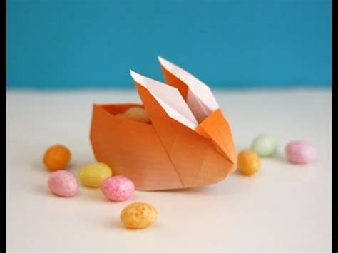 Easy Origami Easter Egg - origami easter bunny container basket hd