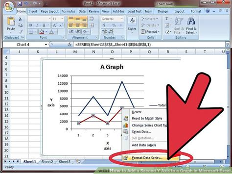 format secondary axis excel 2007 how to add a second y axis to a graph in microsoft excel