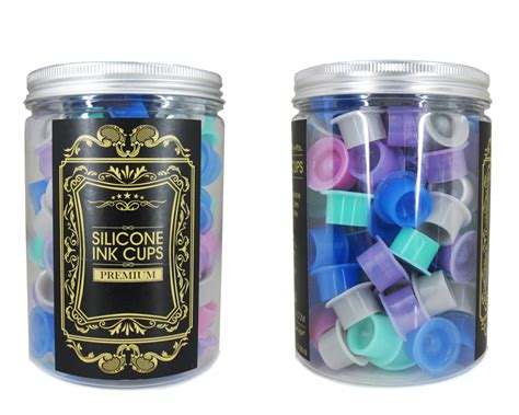 tattoo ink cups silicon suction ink cups ink cups holders