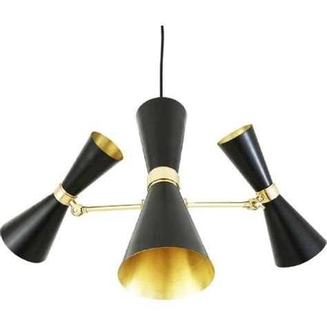 contemporary bespoke light fixtures black and gold ceiling pendant light in updated mid