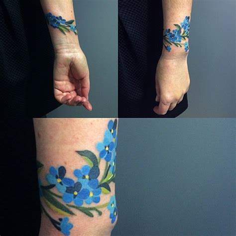 forget me not tattoos forget me not bracelet best ideas designs