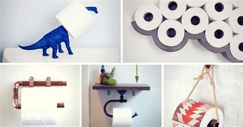 toilet paper holder diy 15 totally unusual diy toilet paper holders homelovr