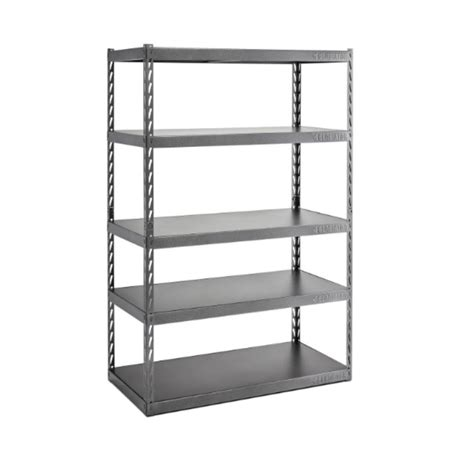 metal garage shelving gladiator 72 in h x 48 in w x 24 in d 5 shelf steel garage shelving unit with ez connect