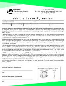 car lease agreement template free best photos of vehicle rental agreement vehicle rental