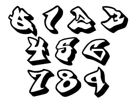 numeros en letra graffiti newhairstylesformen2014 com desenho de n 250 meros em grafite para colorir tudodesenhos