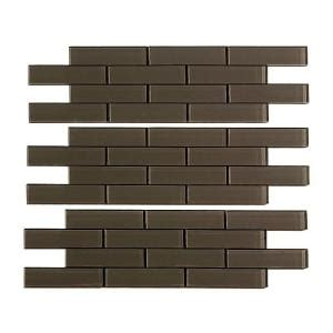 aspect subway matted 12 in x 4 in glass decorative tile