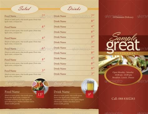 restaurant take out menu templates 15 inspirational food menus designs designdune