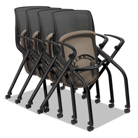 Nesting Chairs by Motivate Seating Nesting Stacking Flex Back Chair Morel