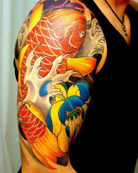 koi tattoo colour schemes tatouage carpe koi les 20 plus beaux tatouages de ko 239 s